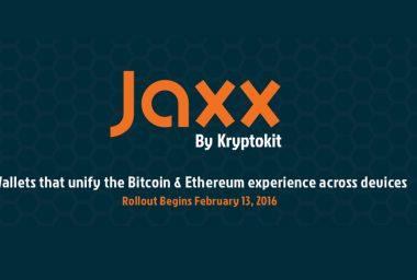Jaxx: The New Fleet of Bitcoin & Ethereum Wallets