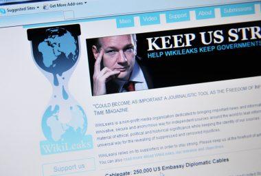 WikiLeaks Has Raised 4,000 BTC Since 2011