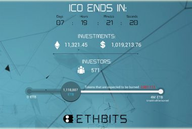 ETHBITS Breaks $1 Million Barrier for New P2P Cryptocurrency Exchange