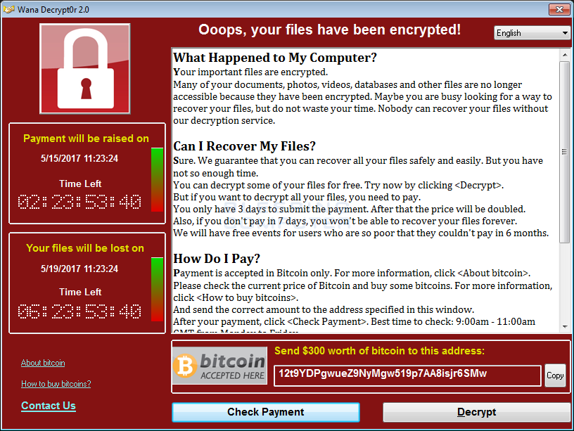 Widespread Ransomware Infecting Thousands Linked to NSA Exploit