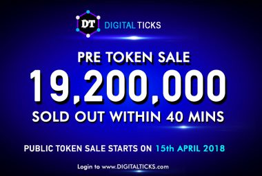 PR: Crypto Commodity Exchange Digital Ticks Pre - ICO Sells out in 40 Minutes Flat! Public ICO on 15th April 2018