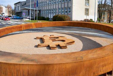 Slovenian City Unveils World's First Public Bitcoin Monument