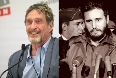 A History of Violent Intervention: John McAfee Offers to Help Cuba Resist US Sanctions With Crypto